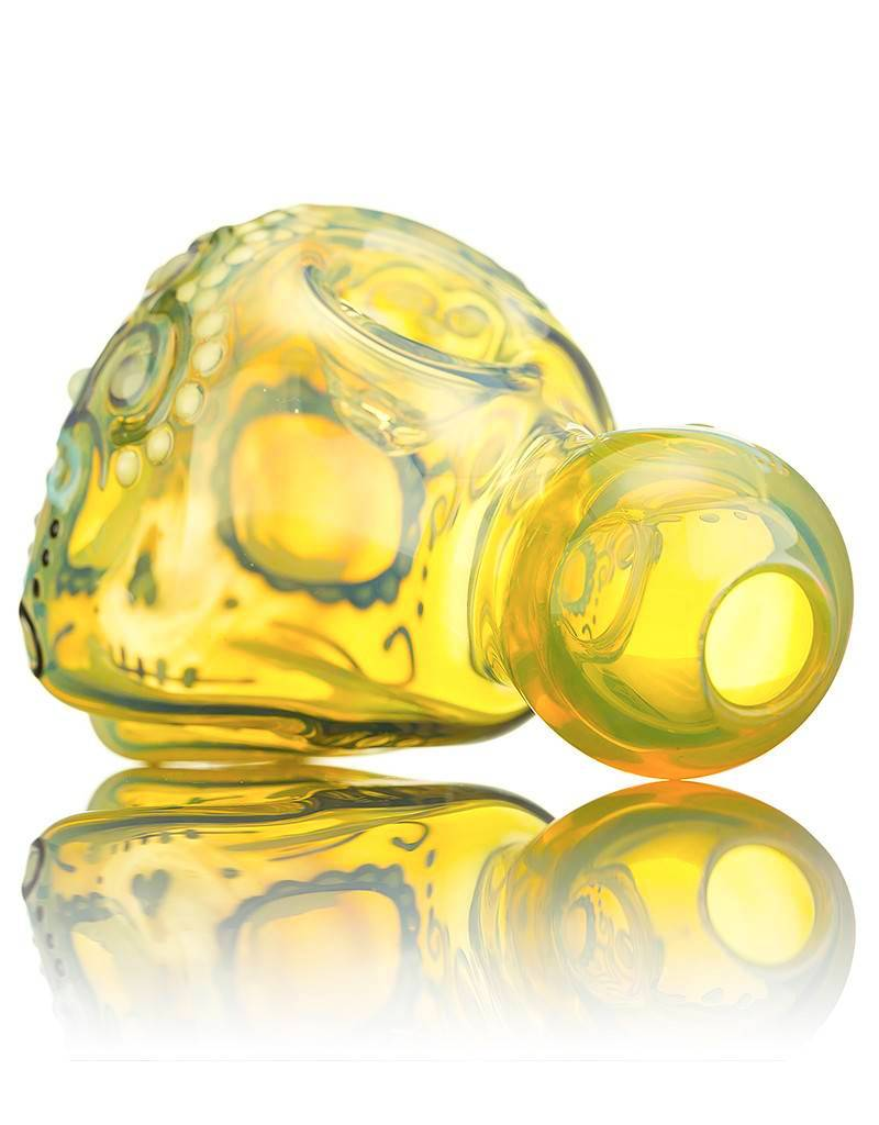 Dina K SOLD Dina K Sugar Skull Spoon Pipe 5 Glass Enthusiast