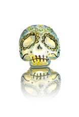 Dina K Dina K Glass Sugar Skull Spoon 4 - The Glass Enthusiast