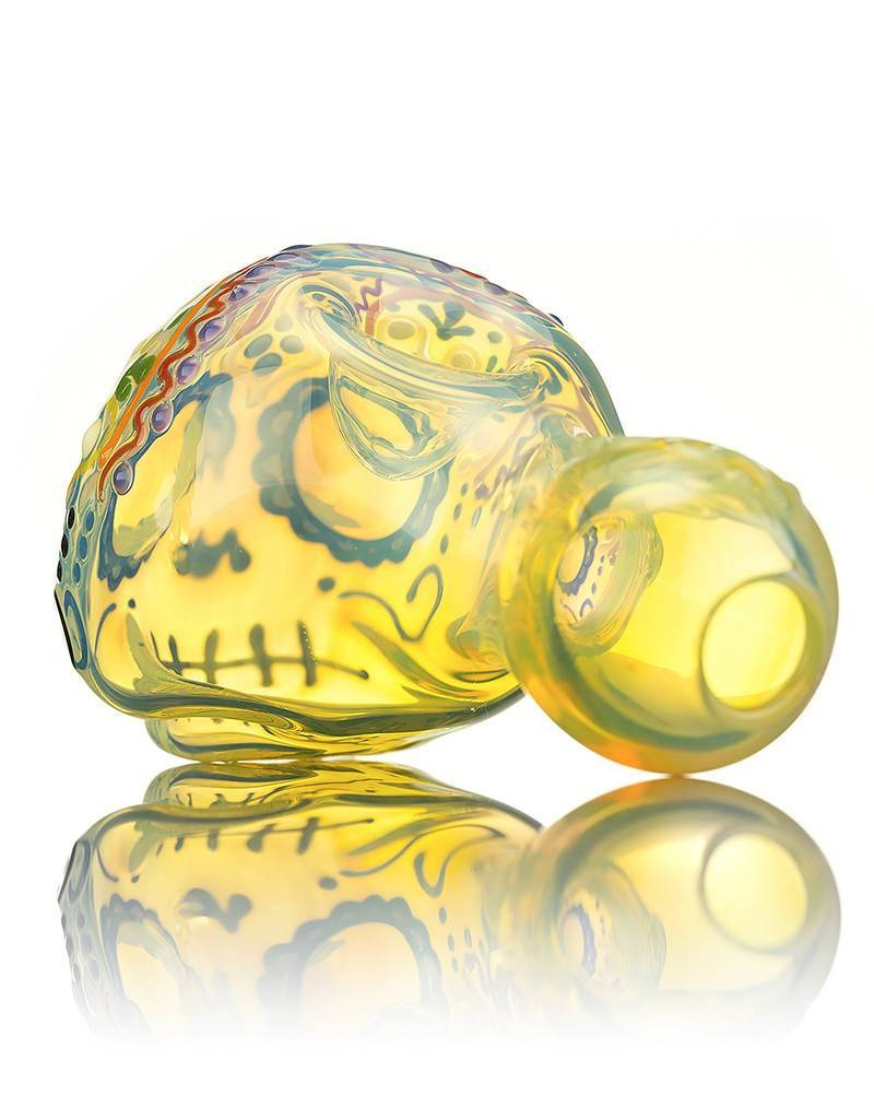 Dina K Dina K Glass Sugar Skull Spoon Pipe 8 Glass Enthusiast