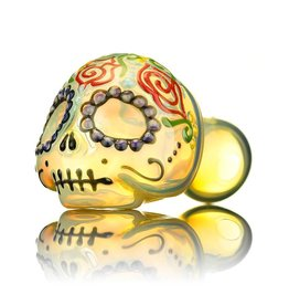 Dina K Dina K Sugar Skull Spoon Pipe 7 Glass Enthusiast