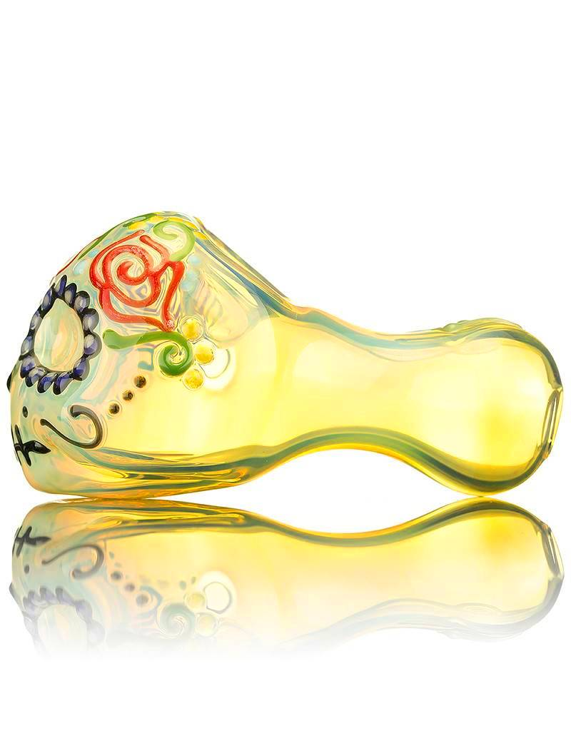 Dina K Dina K Sugar Skull Spoon Pipe 7 Glass Enthusiast