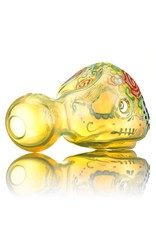 Dina K SOLD Dina K Sugar Skull Spoon Pipe 7 Glass Enthusiast