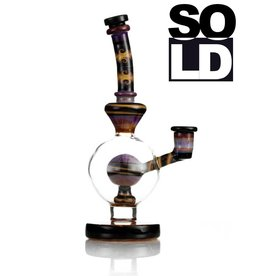 Mike Fro x Madden SOLD - Mike Fro x Madden Collab Red / Orange Ball Dab Rig