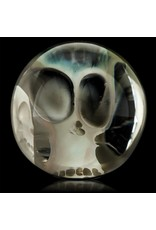 SOLD Bob Snodgrass Two Skull Marble Snodgrass Family Glass