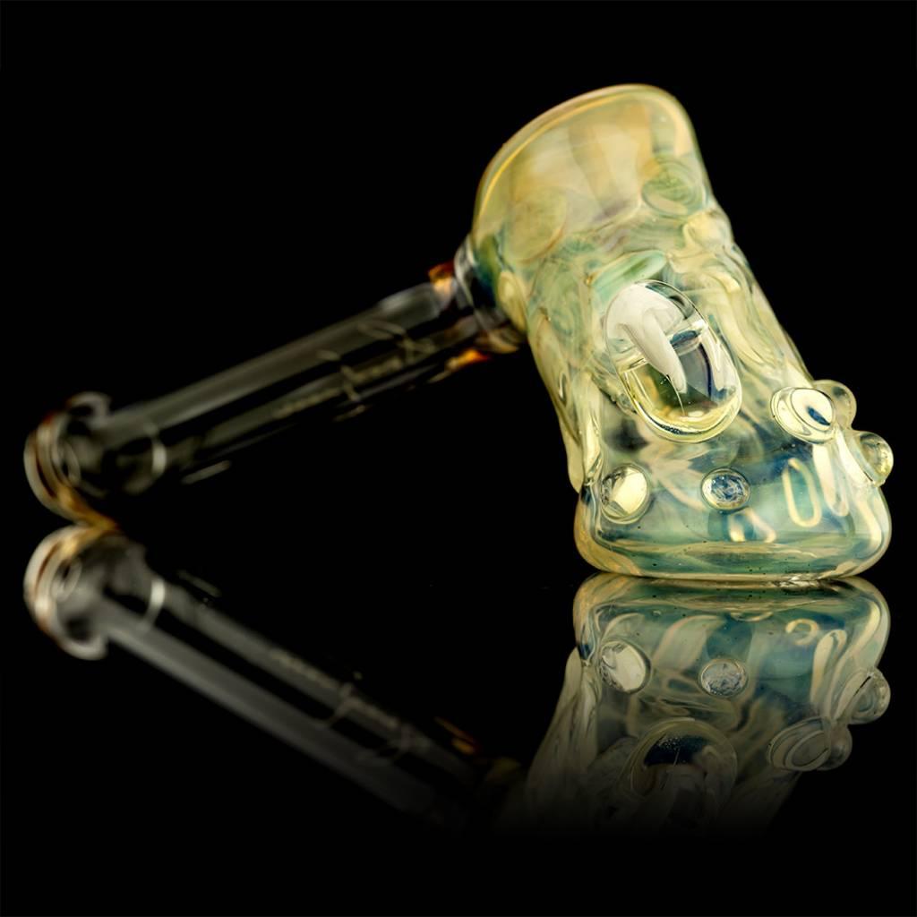 Bob Snodgrass SOLD Bob Snodgrass Silver Fumed Mushroom Marble & Dancing People Hammer Snodgrass Family Glass
