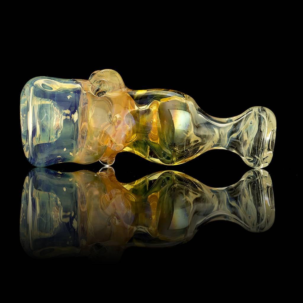 Bob Snodgrass SOLD Bob Snodgrass Turtle Chillum w/Aliens & Stars Snodgrass Family Glass