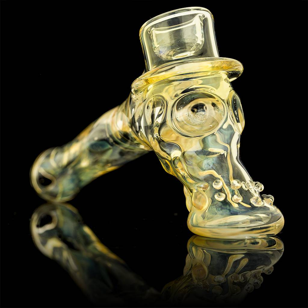 SOLD Bob Snodgrass Dot Box Stem Top Hat Snodgrass Family Glass