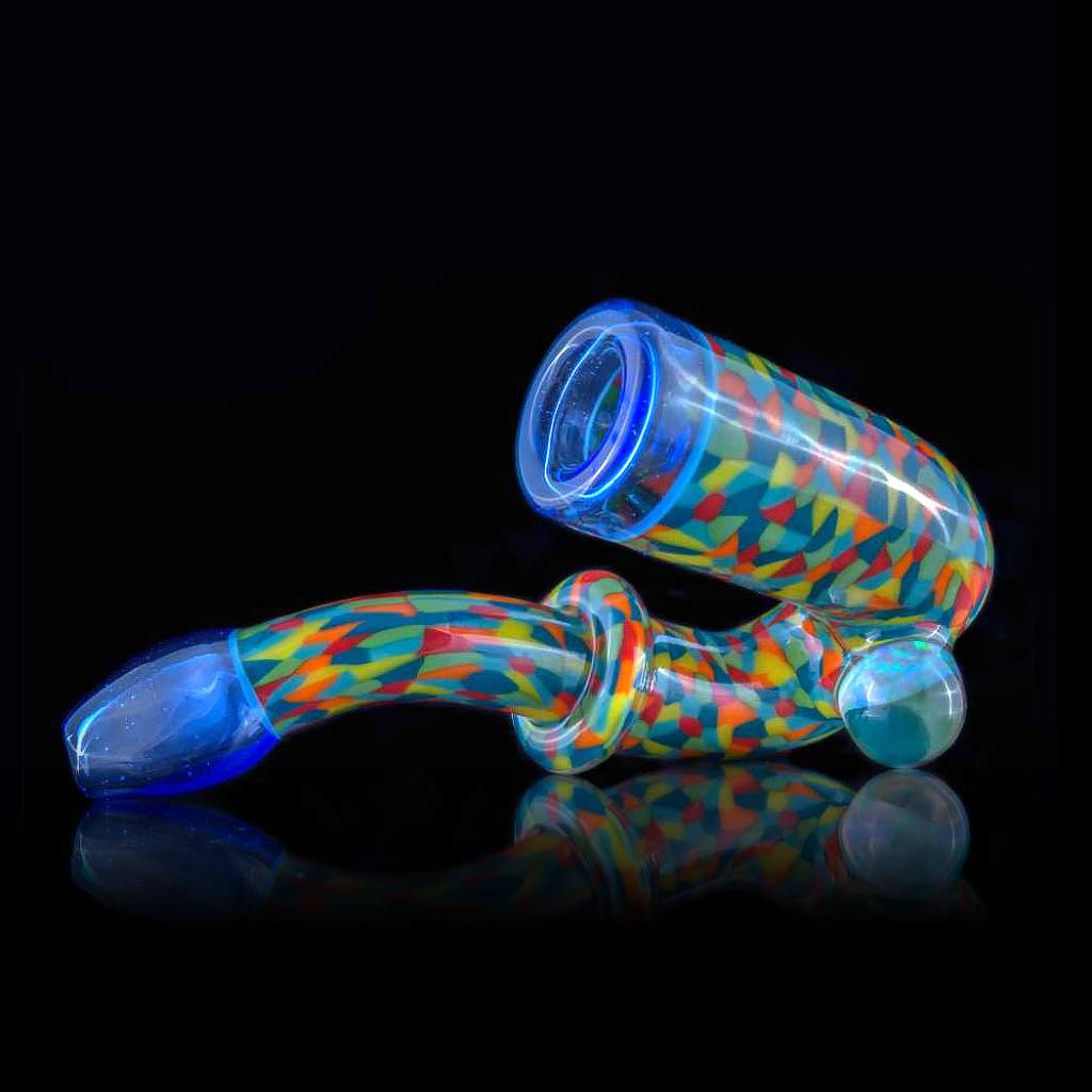 Hollinger SOLD Hollinger Tie Dye Chipstack Sherlock w/Blue Dream Accents & Opal Coin