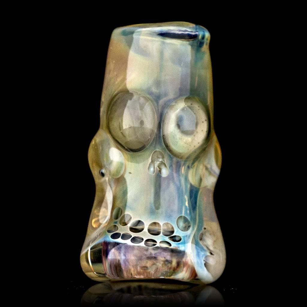 Bob Snodgrass Skull Bead (O) Snodgrass Family Glass