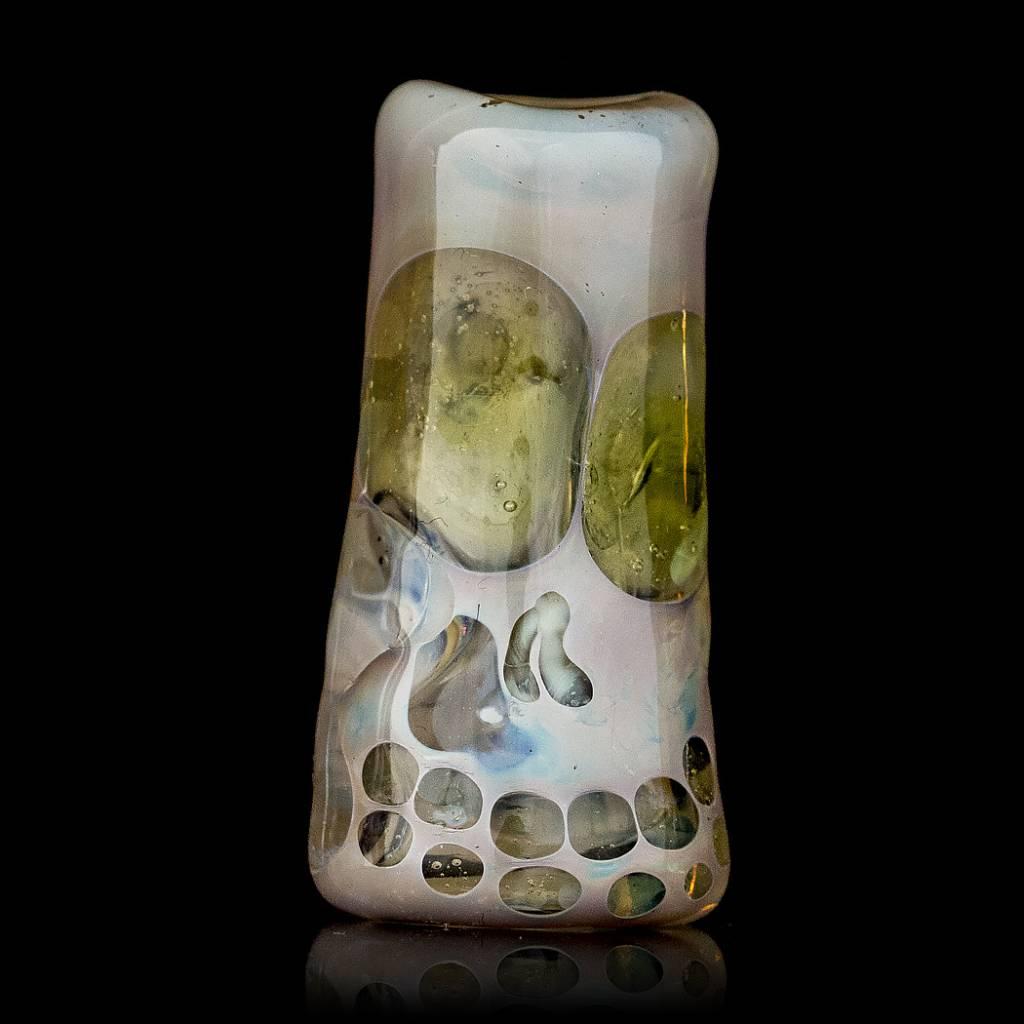 Bob Snodgrass SOLD Bob Snodgrass Skull Bead (UV) Snodgrass Family Glass