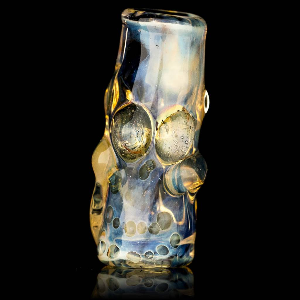 Bob Snodgrass Skull Bead (L) Snodgrass Family Glass