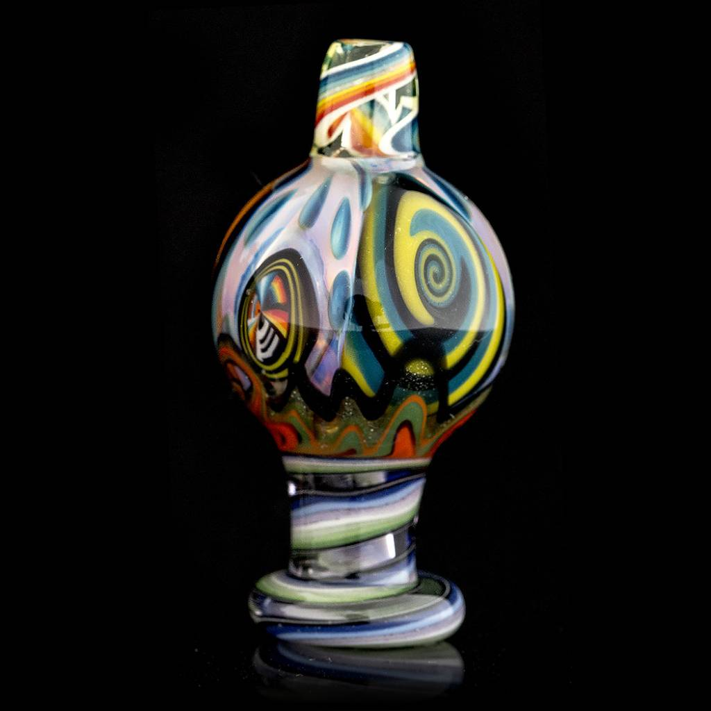 Dillinger Glass SOLD Dillinger Choas UV Bubble Cap #1