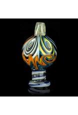 Dillinger Glass SOLD Dillinger Choas Bubble Cap #6