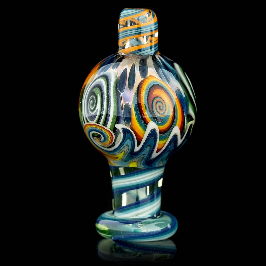 Dillinger Glass SOLD Dillinger Choas UV Bubble Cap #5