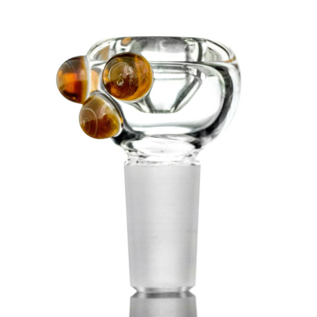 Witch DR Witch DR 14mm Maple Syrup Accented Clear Bubble Slide by GloRo Glass