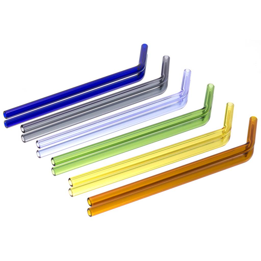Witch DR Witch DR Glass Drinking Straw Rainbow 6 Pack - BENT
