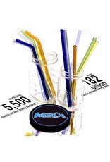 Witch DR Witch DR Glass Drinking Straw Rainbow 6 Pack - CLASSIC