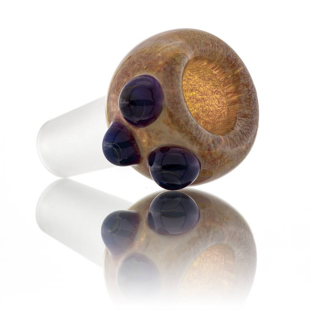Witch DR Witch DR 14mm Amber Purple Frit Bubble Slide with Amber Purple Dots