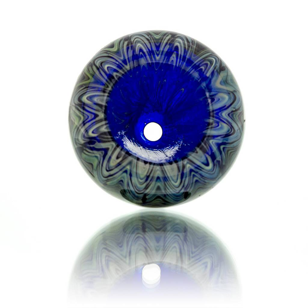 Witch DR Witch DR 14mm Fume Wrap & Rake Cobalt Glass Bowl Slide E