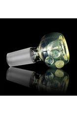 Witch DR Witch DR 14mm Fume on Clear Glass Bowl Slide with Clear Dots (T)
