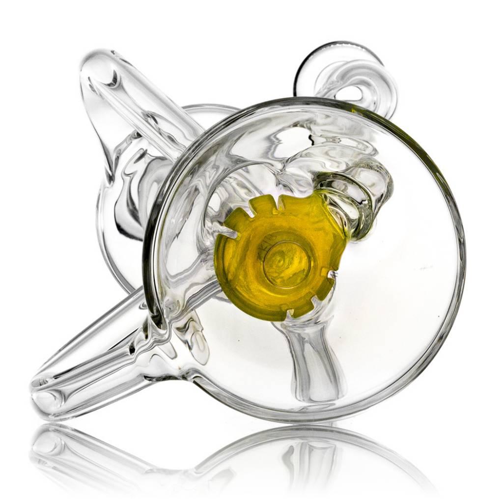 10mm Double Uptake Recycler by Aw Glass   Thomas Orange