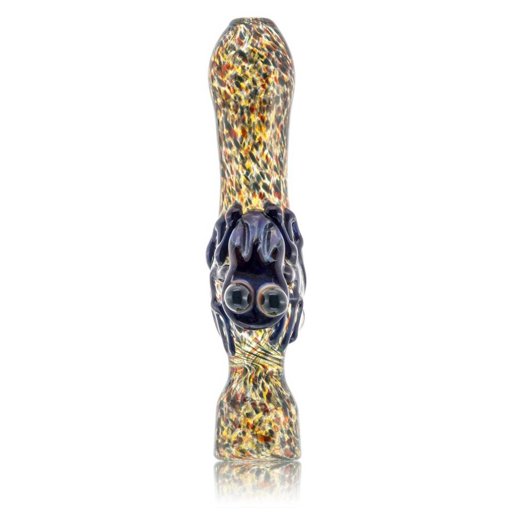 Griffin Critter Fume Chillum One Hitter Purple Frog