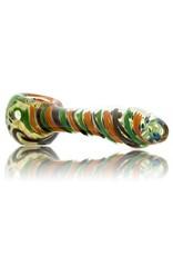Jay Luetjen Large Inside Out Glass Spoon Hand Pipe (A)