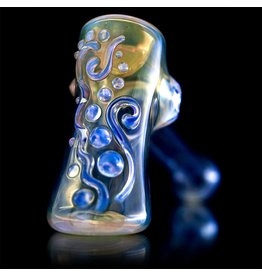 Ginny Snodgrass-Gietl Ginny Snodgrass-Gietl Clear Jewel Glass Hammer Dry Pipe 1