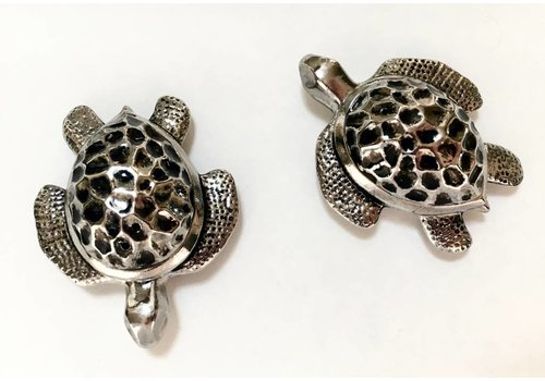 Metal Sea Turtle Salt & Pepper Shakers
