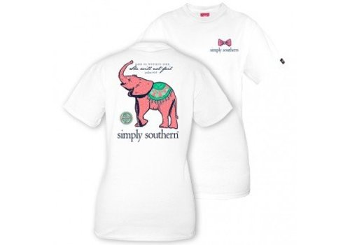 SIMPLY SOUTHERN Youth Baby Elephant T Shirt