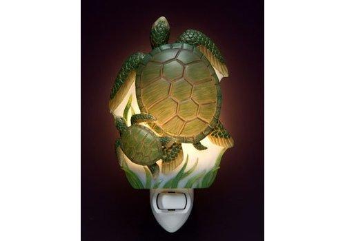 Ibis Orchid Design Sea Turtles Night Light