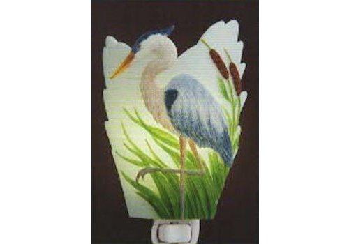 Ibis Orchid Design Blue Heron Night Light