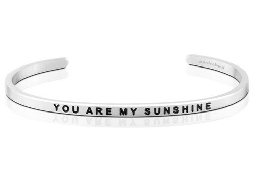 MantraBand You Are My Sunshine - Silver