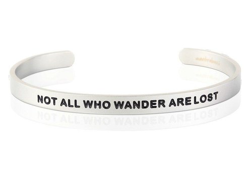 Not All Who Wonder Are Lost - Silver