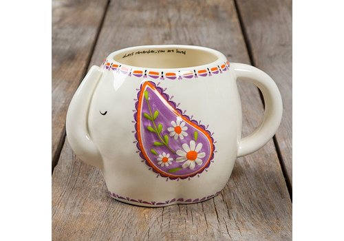 Folk Art Mug - Elephant