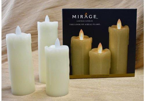 3 pk Pillar Candles