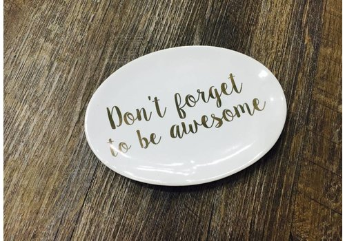 Be Awesome Plate