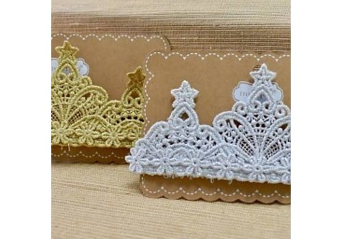 MUD PIE Lace Crown Headband