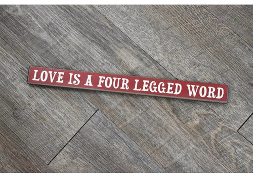 Love/Four Legged Word Sign