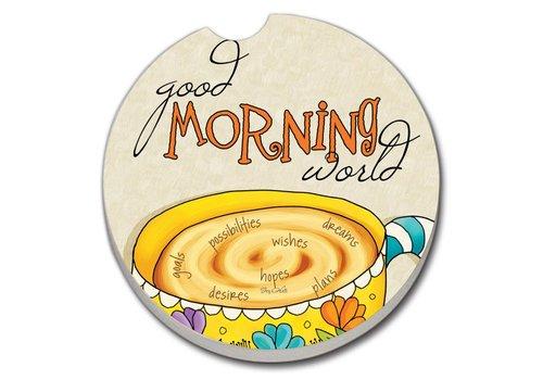 Good Morning Car Coaster