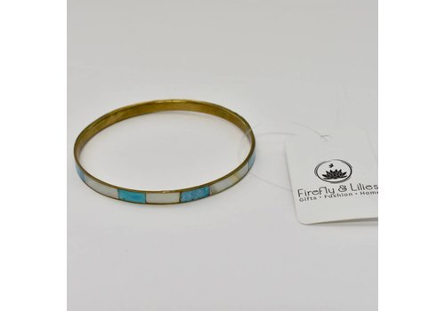 Bracelet Blue/Mother of Pearl