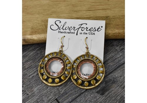 Antique Gold Circle Earrings