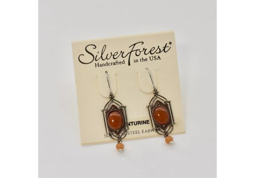 Antique Aventurine Dangle Earrings