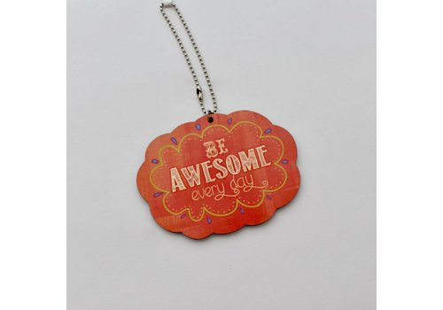 BE AWESOME Car Charm