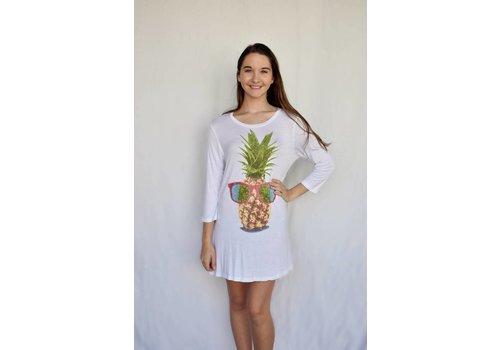 White Pineapple T Dress