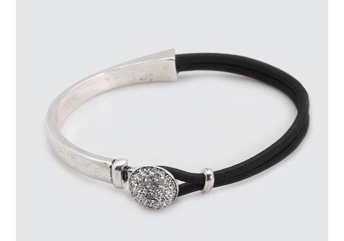 Black Cord & Silver Metal Bracelet