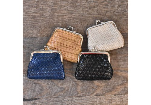 Basket Weave Coin Purse