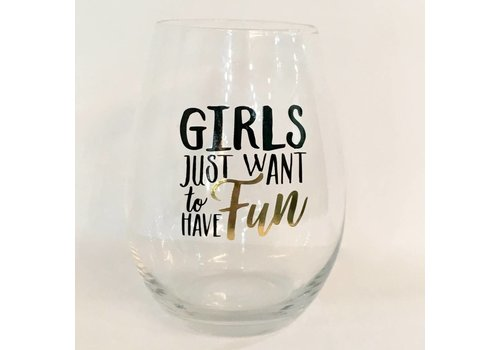 Have Fun Stemless Wine Glass