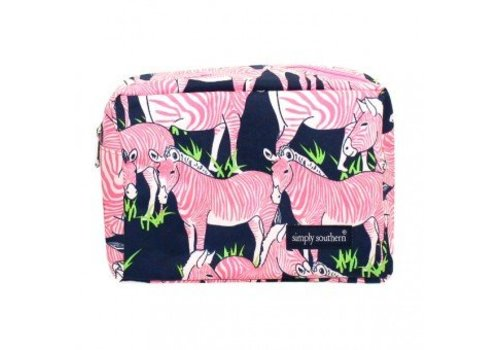 SIMPLY SOUTHERN Zebra Cosmetic Glam Bag