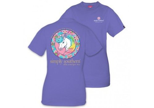 SIMPLY SOUTHERN Unicorn Periwinkle T Shirt